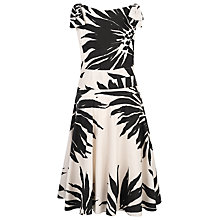 Buy Havren Daisy Print Dress, Cream/Black Online at johnlewis.com