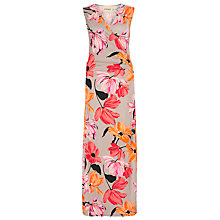 Buy Havren Floral Print Maxi Dress, Putty Online at johnlewis.com
