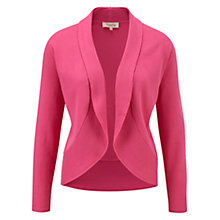 Buy Viyella Ribbed Edge Cardigan, Foxglove Online at johnlewis.com