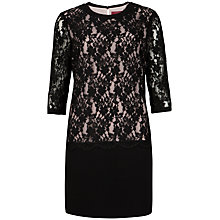 Buy Ted Baker Gabbiey Lace Detail Dress, Black Online at johnlewis.com