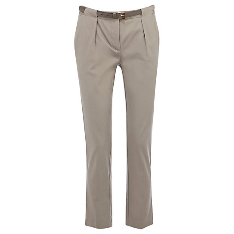 Buy Oasis Cotton Mix Sateen Smart Trousers Online at johnlewis.com