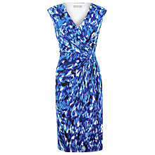 Buy Planet Printed Wrap Dress, Blue Online at johnlewis.com