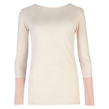 Buy Ted Baker Contrast Colour Jumper, Pale Pink Online at johnlewis.com