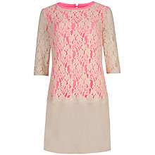 Buy Ted Baker Lace Detail Dress, Nude Pink Online at johnlewis.com