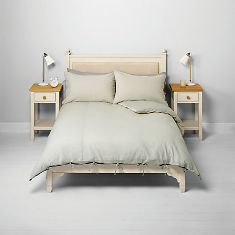 Buy John Lewis Rowan Stripe Bedding, Natural Online at johnlewis.com