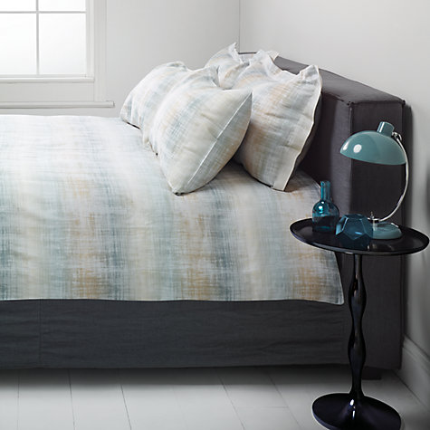 Buy John Lewis Striation Bedding, Green Online at johnlewis.com