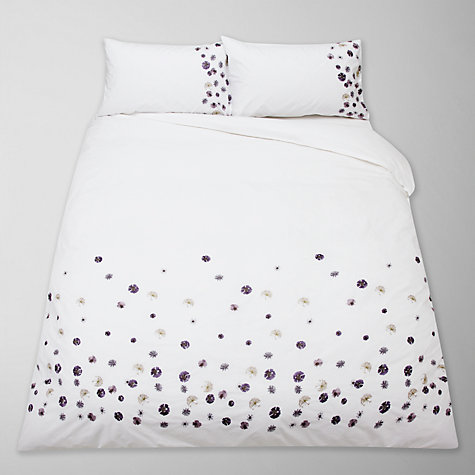 Buy John Lewis Kiera Bedding, Purple Online at johnlewis.com
