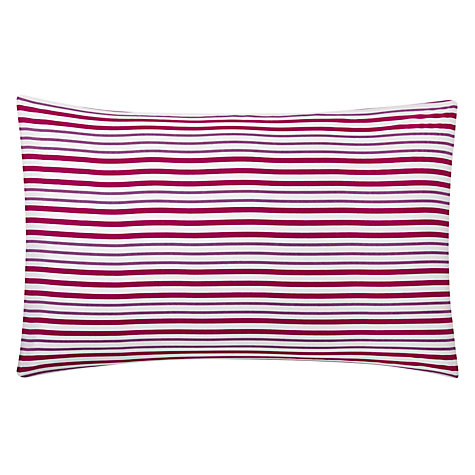 Buy John Lewis Value Polycotton Stripes Duvet Cover and Pillowcase Set Online at johnlewis.com
