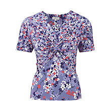 Buy CC Petite Ditsy Floral Jersey Top, Lavender Online at johnlewis.com