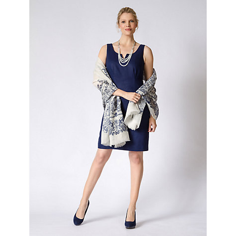 Buy East Victoire Shift Dress, Royal Blue Online at johnlewis.com