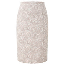 Buy CC Jacquard Pencil Skirt, Biscuit Online at johnlewis.com