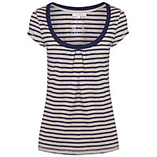 Buy White Stuff Scoop Scooped Neck T-Shirt, Navy Online at johnlewis.com
