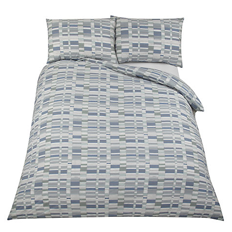 Buy John Lewis Blocks Duvet Cover and Pillowcase Set, Blue Multi Online at johnlewis.com