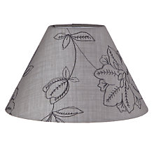 Buy John Lewis Rachel Embroidered Shade, Grey Online at johnlewis.com