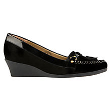 Buy Van Dal Bristol Wedge Moccasins, Black Online at johnlewis.com