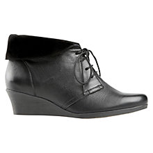 Buy Van Dal Nantucket Wedged Ankle Boots, Black Online at johnlewis.com