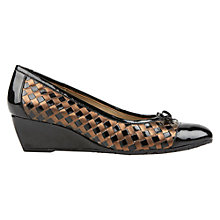 Buy Van Dal Sudbury Wedged Court Shoes, Black/Bronze Online at johnlewis.com