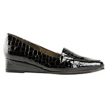 Buy Van Dal Verona III Wedged Loafers, Black Croc Print Online at johnlewis.com