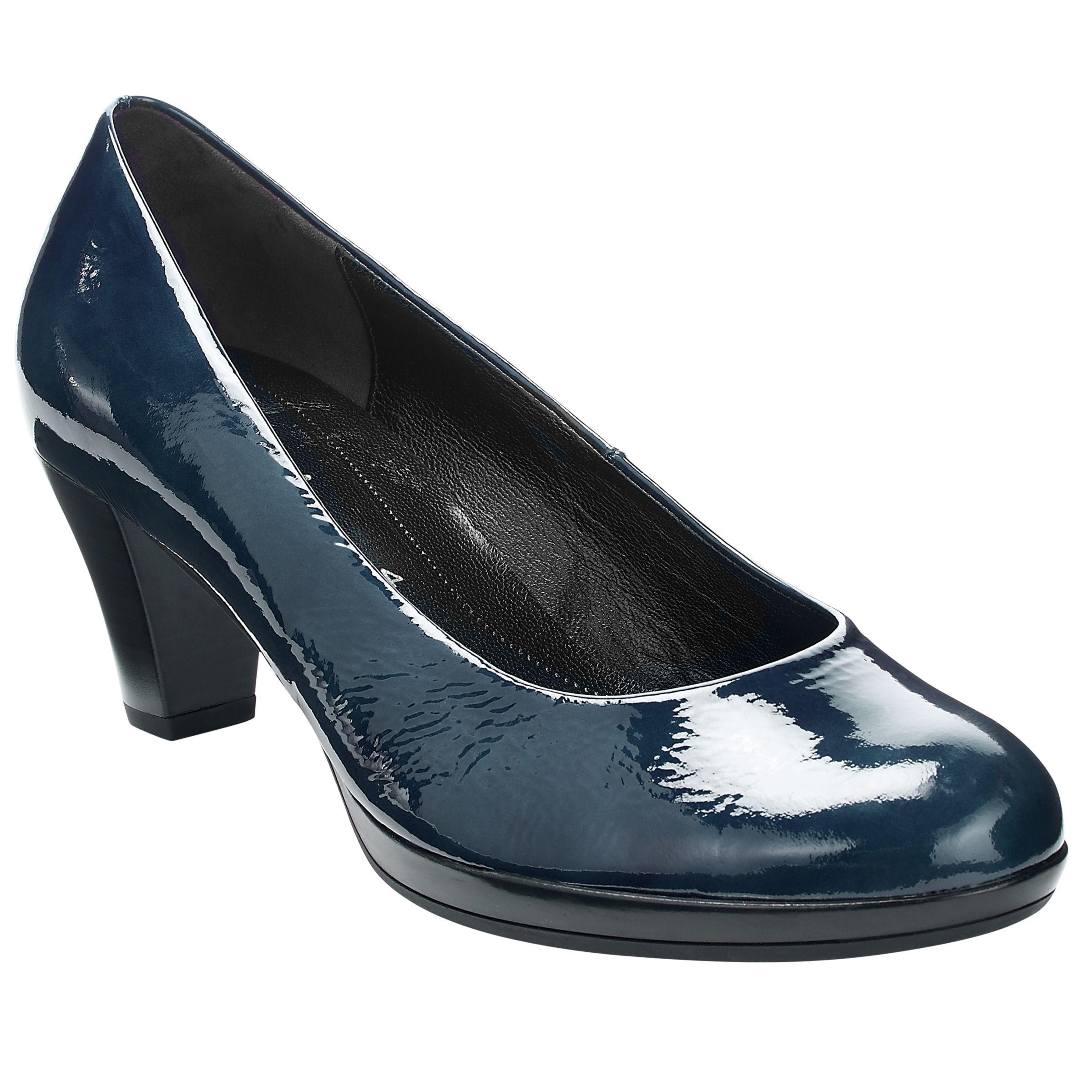Gabor Rani Patent Platform Court Shoes, Navy