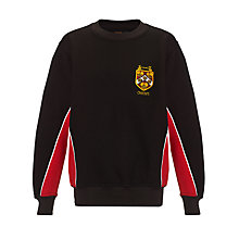 Buy Dame Alice Owens School Unisex Sports Sweatshirt, Black/Red Online at johnlewis.com