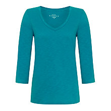 Buy Collection WEEKEND by John Lewis Long Sleeve V-Neck Slub T-Shirt Online at johnlewis.com
