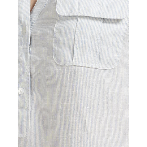 Buy John Lewis Linen Safari Tab Detail Tunic Top Online at johnlewis.com