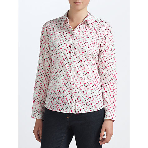 Buy John Lewis Capsule Collection Print Shirt, Grape Online at johnlewis.com