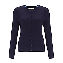 Buy John Lewis Crew Neck Cardigan, Navy Online at johnlewis.com