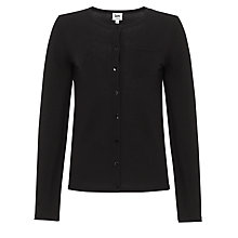 Buy Kin by John Lewis Crew Neck Cardigan, Black Online at johnlewis.com
