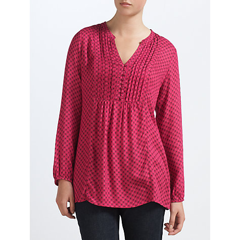 Buy John Lewis Capsule Collection Pintuck Tunic, Cranberry Online at johnlewis.com