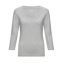 Buy John Lewis Triple Trim Long Sleeve Top Online at johnlewis.com