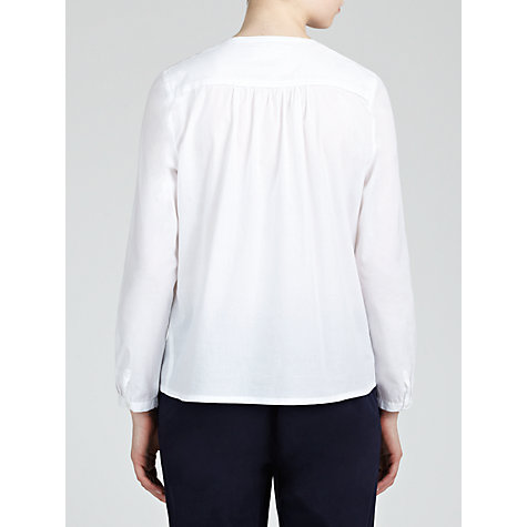 Buy Collection WEEKEND by John Lewis Embroidered Shoulder Top, White Online at johnlewis.com