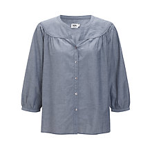 Buy Kin by John Lewis Woven Smock Top, Chambray Online at johnlewis.com