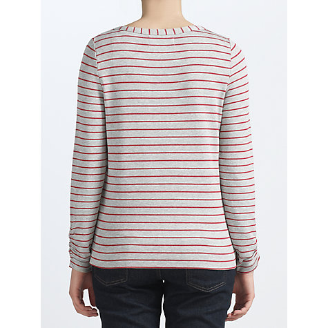 Buy Collection WEEKEND by John Lewis Loop Back Stripe Top Online at johnlewis.com
