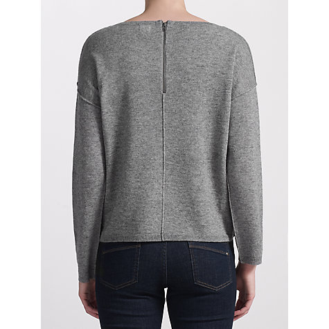 Buy Kin by John Lewis Reverse Roll Edge Jumper, Grey Online at johnlewis.com