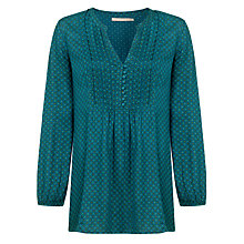 Buy John Lewis Capsule Collection Pintuck Tunic, Teal Online at johnlewis.com