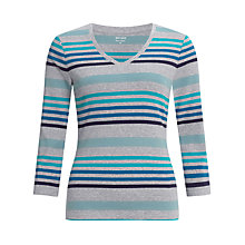 Buy John Lewis Cleo Stripe V-Neck Top Online at johnlewis.com