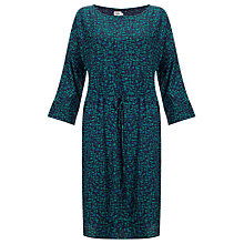 Buy Kin by John Lewis Scratch Print Tie Waist Dress, Blue/Teal Online at johnlewis.com