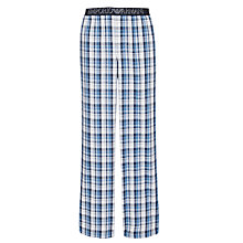 Buy Emporio Armani Check Print Lounge Pants, Blue Online at johnlewis.com