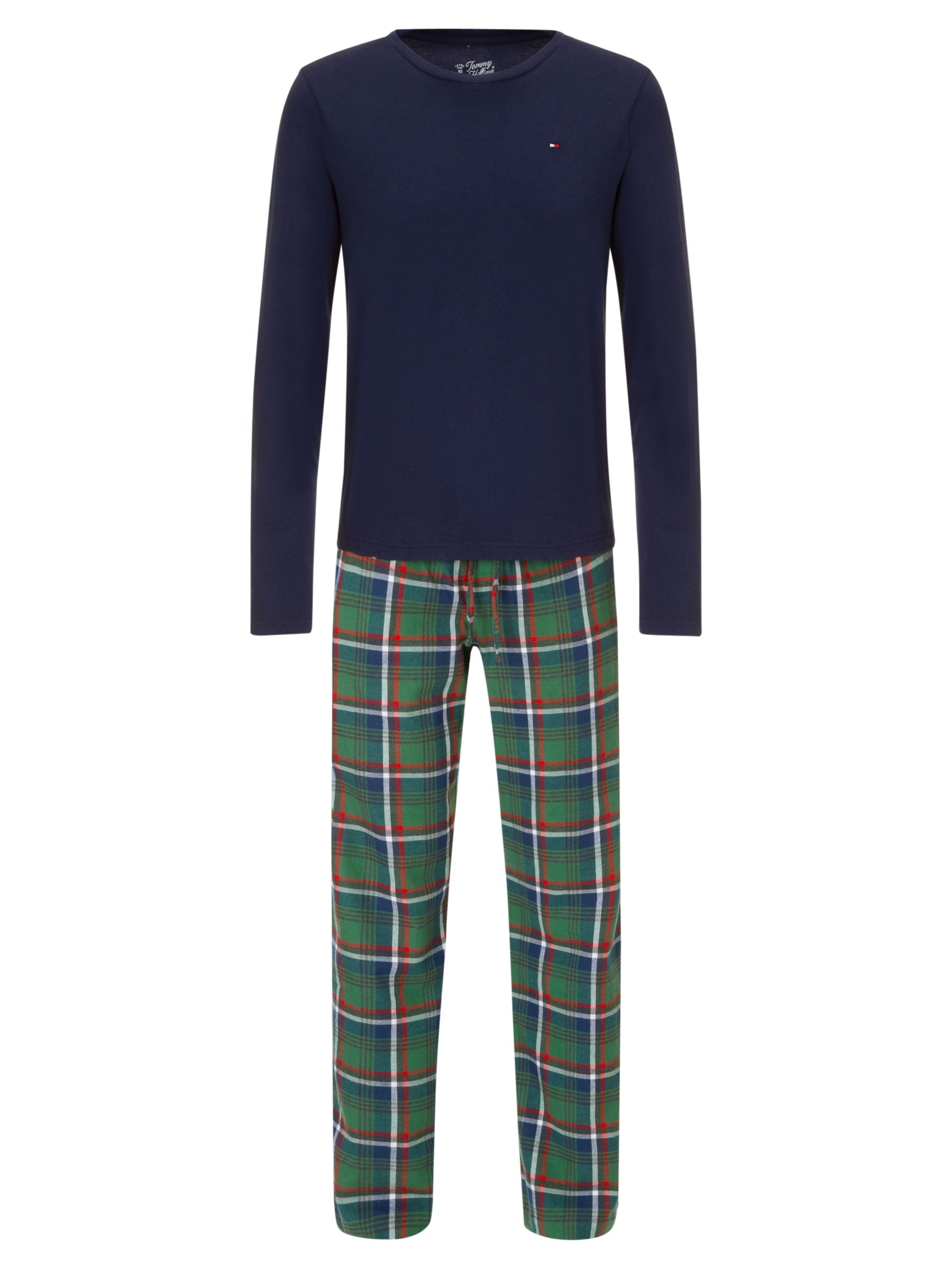 Tommy Hilfiger Two Piece Lounge Set, Navy/Green
