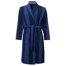 Buy Tommy Hilfiger Tyrne Stripe Dressing Robe, Blue/Navy Online at johnlewis.com