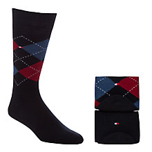 Buy Tommy Hilfiger Argyle Socks, 2 Pack Online at johnlewis.com