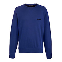 Buy Emporio Armani Crew Neck Long Sleeve T-Shirt, Blue Online at johnlewis.com