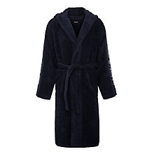 Buy Emporio Armani Towel Robes, Navy Online at johnlewis.com
