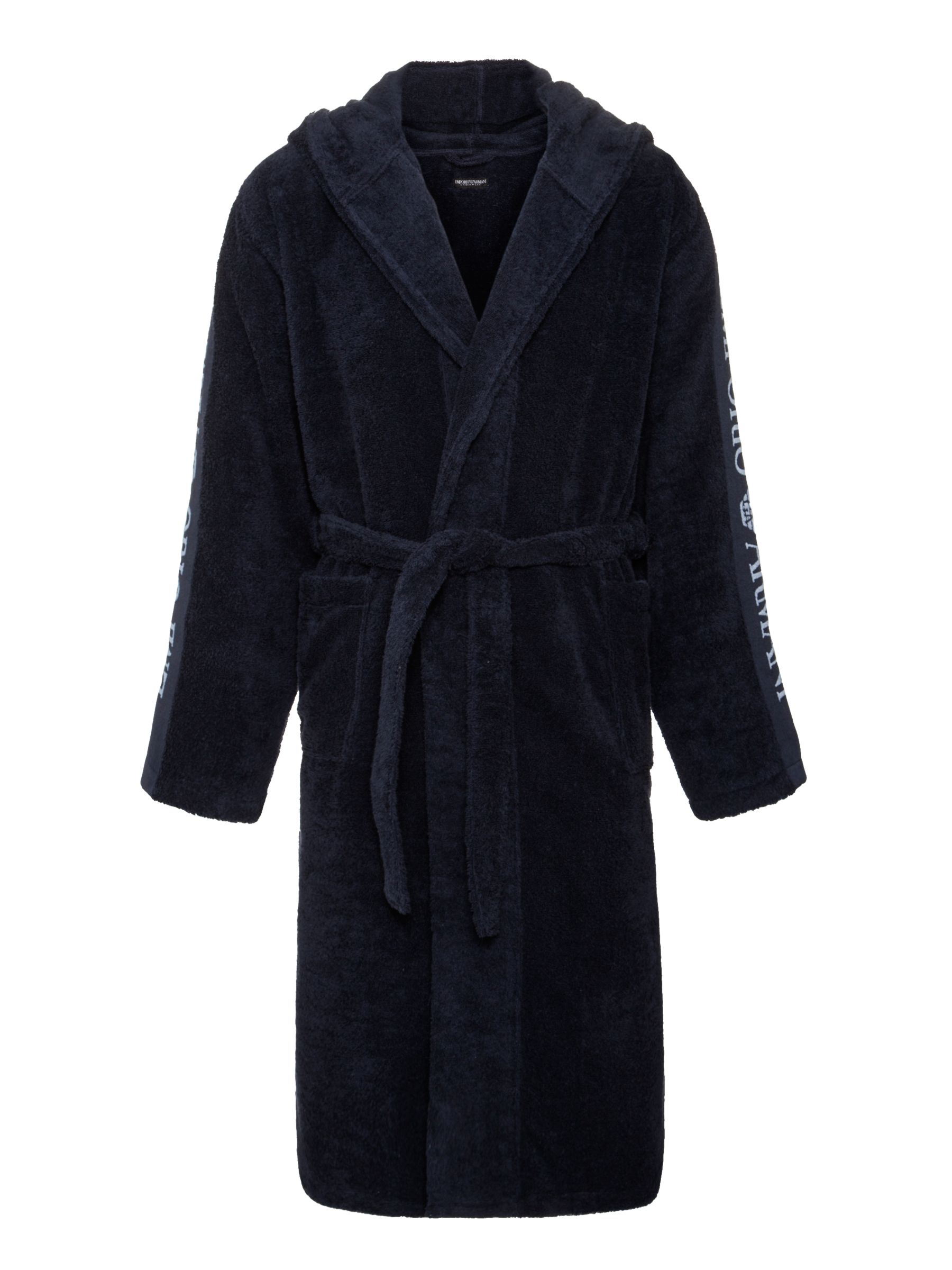 Emporio Armani Towel Robes, Navy