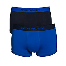Buy Emporio Armani Cotton Stretch Trunks, Pack of 2 Online at johnlewis.com