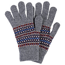 Buy Barbour Dunkeld Fair Isle Knitted Gloves, Grey/Multi Online at johnlewis.com