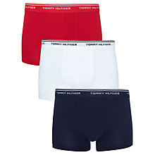 Buy Tommy Hilfiger Classic Boxers, Pack Of 3, Navy/White/Red Online at johnlewis.com