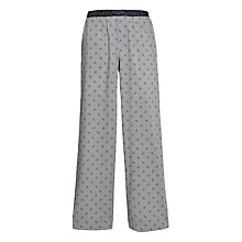 Buy Emporio Armani Logo Print Lounge Pyjama Trousers, Grey Online at johnlewis.com