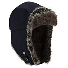 Buy Barbour Grasmere Trapper Hat, Navy Online at johnlewis.com